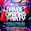 LONDON'S BIGGEST FREE DRINKS PARTY ★ ANYTHING BUT SOBER ★ Sat 1st Oct - Mixed By Kapital & Billgates