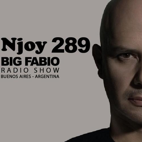 NJOY MUSIK 289 / BIG FABIO Radio Show desde BUENOS AIRES, ARGENTINA.