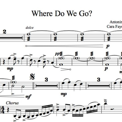 Where Do We Go Piano Accomp Violin Sample By LS Sheet