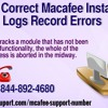 How To Correct MacAfee Installation Logs Record Errors