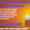 How to fix the McAfee Security Centre blank screen