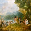 Joseph Haydn: Piano Concerto in F Major, Allegro / J.A. Watteau: 'Pélerinage à l'île de Cythère'.