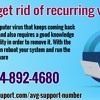 How to get rid of recurring viruses?