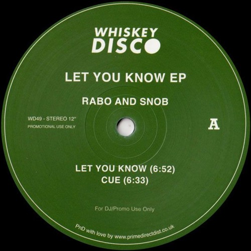 Let You Know EP (Whiskey Disco 49)