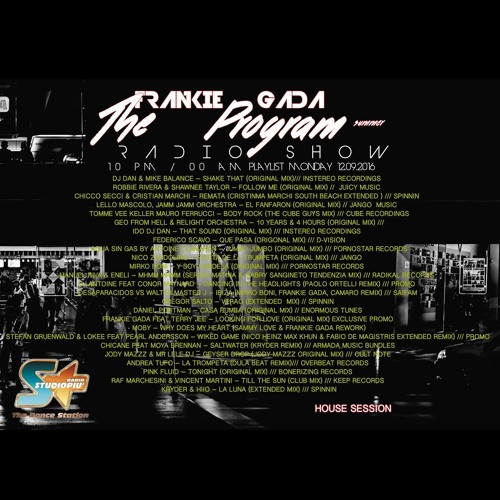 """Andrea Tufo - La Trompeta (Dual Beat Remix)"" Radio Studio Piu 12.09.2016 (The Program - Radio Show)"