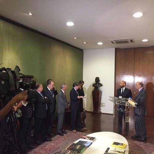 20160915 - Min José Serra e Sec de Comércio García-Legaz da Espanha