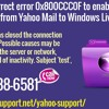How to correct error 0x800CCC0F to enable email transfer from Yahoo Mail to Windows Live Mail?