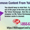 How to remove Content from Yahoo page?