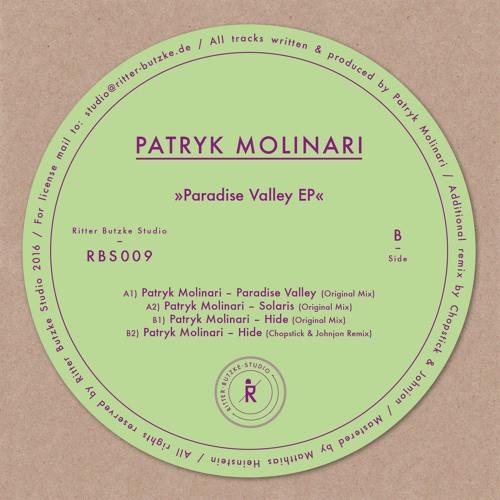 RBS009 Patryk Molinari - Paradise Valley EP (Incl. Chopstick & Johnjon Remix)