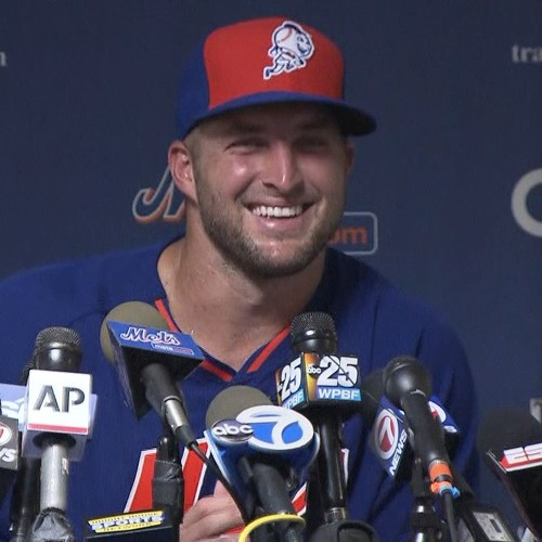 Tim Tebow on instructional league workout