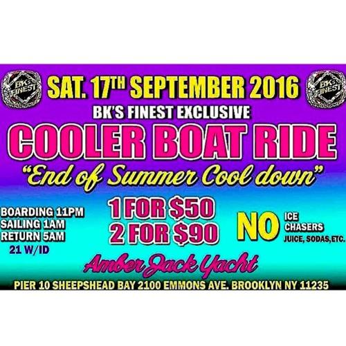 BK Finest Cooler Boat Ride 9.17.16