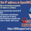 How to edit the IP address in OpenDNS in Yahoo?