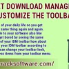 Internet Download Manager-IDM - Customize the Toolbar