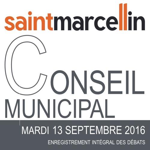 Conseil municipal  du 13 septembre 2016