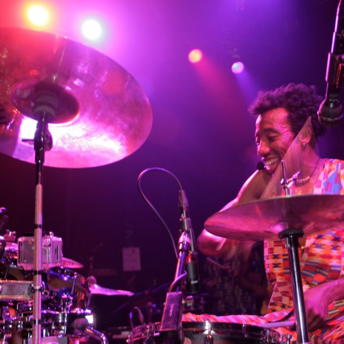 Ghanaian Drummer Paa Kow in discussion with Valerie Richardson on WPKN