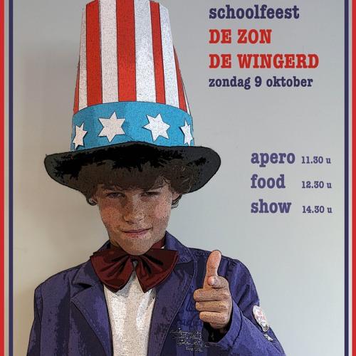 Radiopspots voor het schoolfeest - thema Amerika