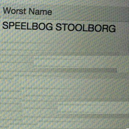 Worst Name (Speelbog Stool Speelbog Stoolborg)
