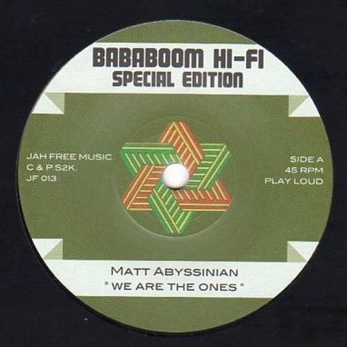 """Matt Abyssinian / Jah Free """"We Are the Ones / We Are the Dub"""" (PROMO)"""