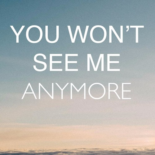You Won't See Me Anymore