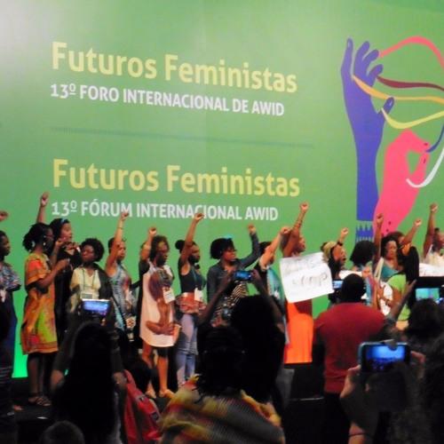 Miriam Pixtún Monroy en el foro AWID