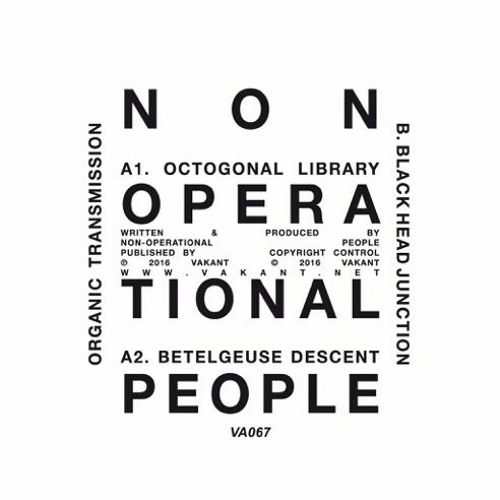 "Non-Operational People ""Octogonal Library"" - Boiler Room Debuts"
