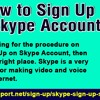How To Sign Up On Skype Account?