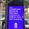 Free public charge/wifi booths - great idea