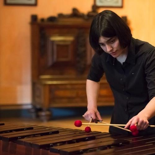 Donnerblech, Pauke und Marimba - die Multi-Perkussionistin Leonie Klein