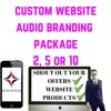 WEBSITE AUDIO BRANDING FULL PACKAGE WITH MUSIC EFFECTS AND MASTERING 2, 5 OR 10 DROPS
