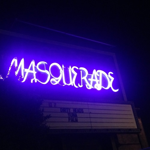 Christopher Simony's first show, Masquerade's set up
