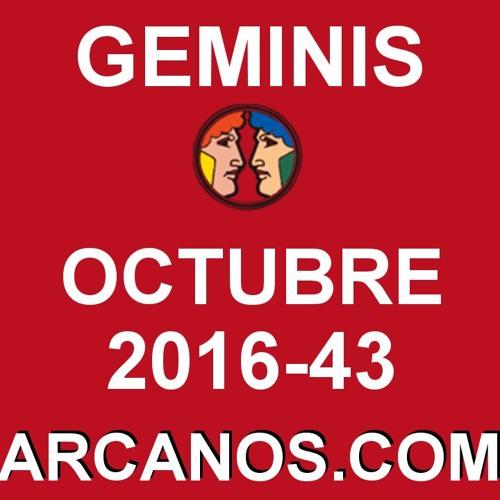 GEMINIS OCTUBRE 2016 - 16 Al 22 De Octubre - Horoscopo Del Amor Solteros Parejas - ARCANOS.COM