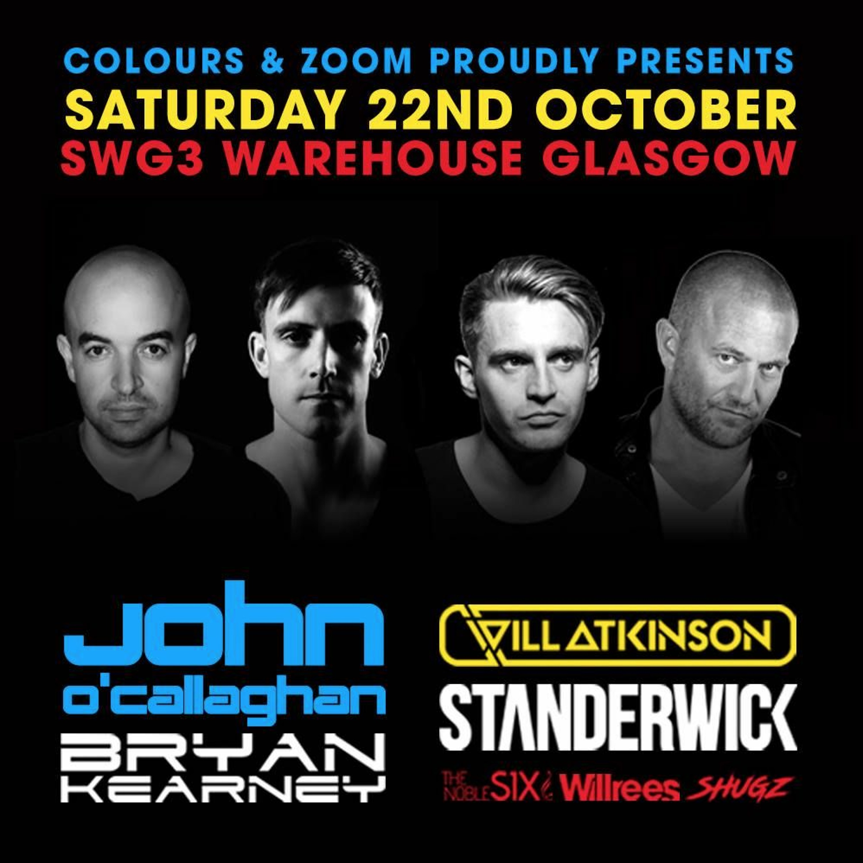 The Noble Six - Live @ SWG3 Warehouse, Glasgow, Scotland 22/10/2016