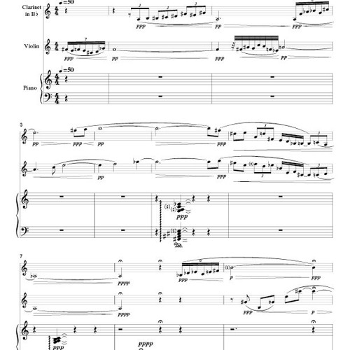 Dust and Shadow - for clarinet, violin, and piano