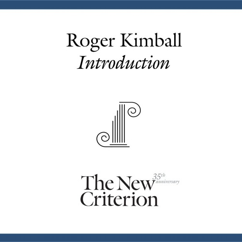 "Roger Kimball introduces ""The Future of Permanence"""