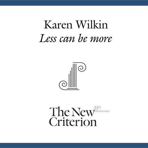Karen Wilkin: Less can be more