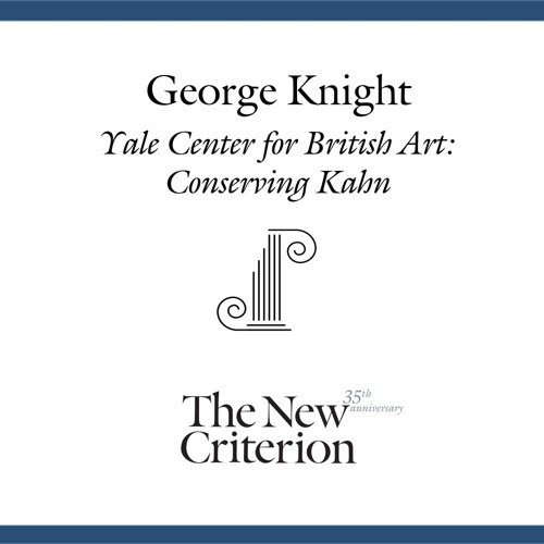George Knight: Yale Center for British Architecture – Conserving Kahn