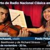 Anuncio del Concierto por Radio Nacional Clásica