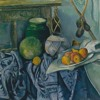 Still Life with a Ginger Jar and Eggplants by Paul Cezanne