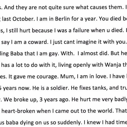 Letters of Separation: Binyavanga Wainaina by Artangel