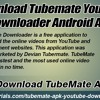 Download Tubemate Youtube Downloader Android App