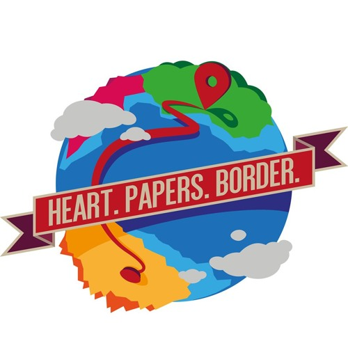 Heart Papers Border - Preview