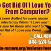 How To Get Rid Of I Love You Worm From Computer?