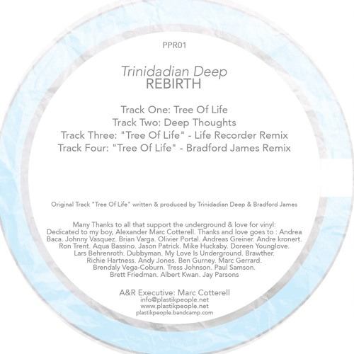Trinidadian Deep.Rebirth EP.Plastik People PPR01