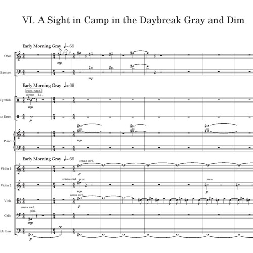 A Sight In Camp The Daybreak Gray And Dim By Joshua Rush Barnett Composer
