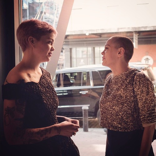 Meredith Graves with Rose McGowan