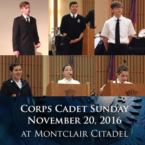 20NOV16 - Corps Cadet Sunday