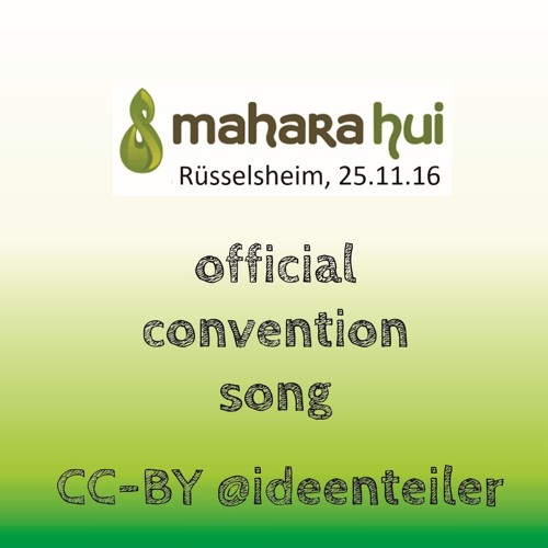 maharahui DE16 official convention song