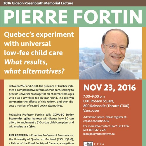 2016 Gideon Rosenbluth Memorial Lecture with Pierre Fortin