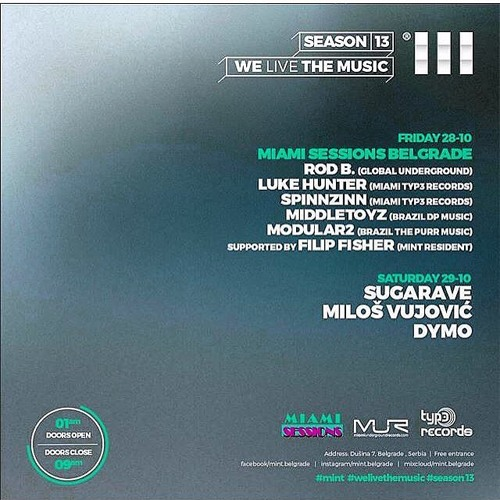Miami Sessions with Rod B. Live @ MINT - Belgrade, Serbia - Oct 2016 - Powered by MODEL ONE