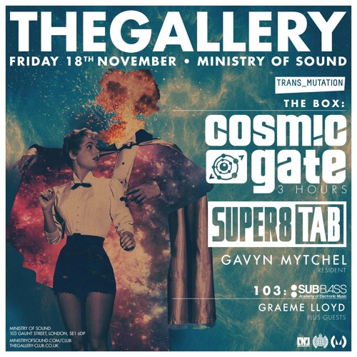 Cosmic Gate @ The Gallery, London (18.11.2016)